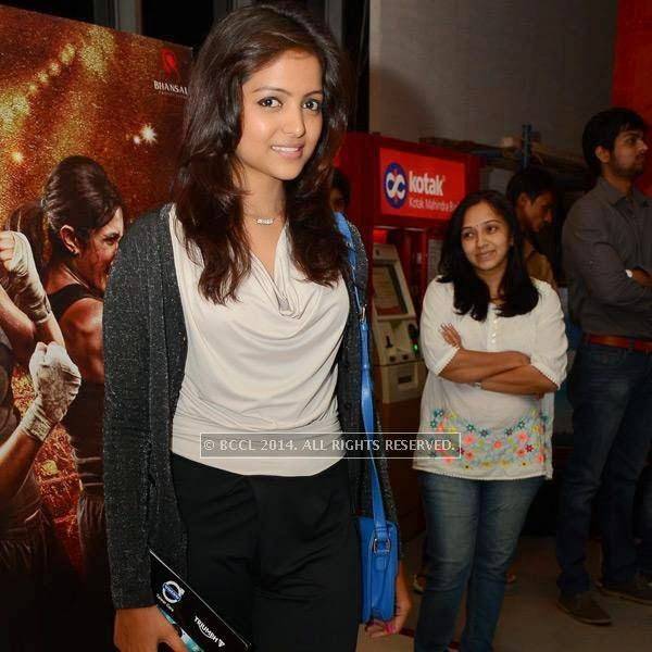 Avantisha during the screening of Kick in Hyderabad.