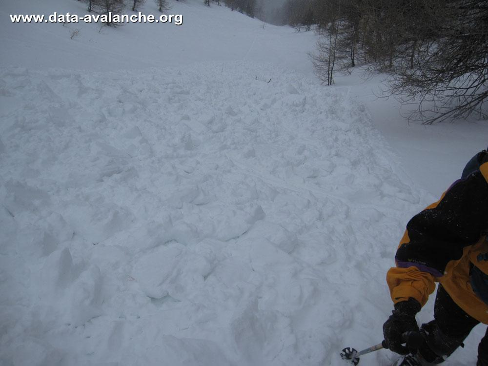 Avalanche Ubaye - Parpaillon, secteur Pic de Boussolenc, Vallon de terre rouge - Photo 1