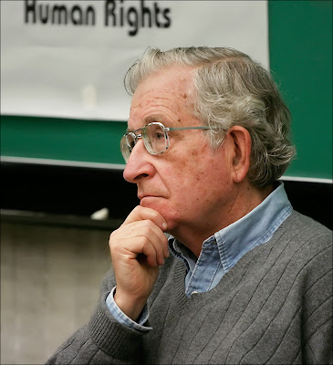 Noam Chomsky: Israel is a pretty crazy state. The U.S. is just a rogue state