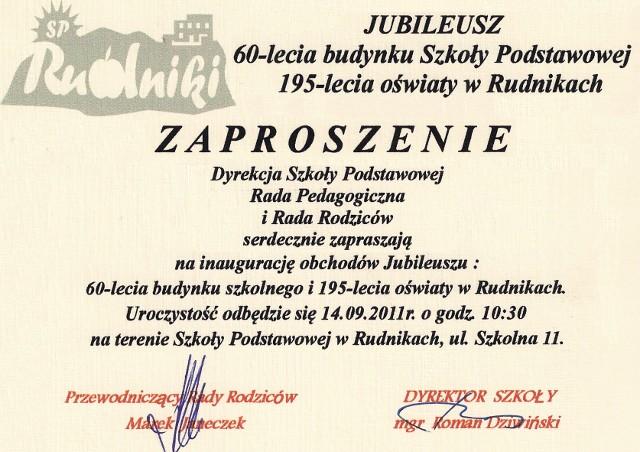 News Zaproszenie Na Jubileusz 60 Lecia Szkoły Szkoła Podstawowa W