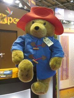 Paddington Bear at the World Travel Market in London