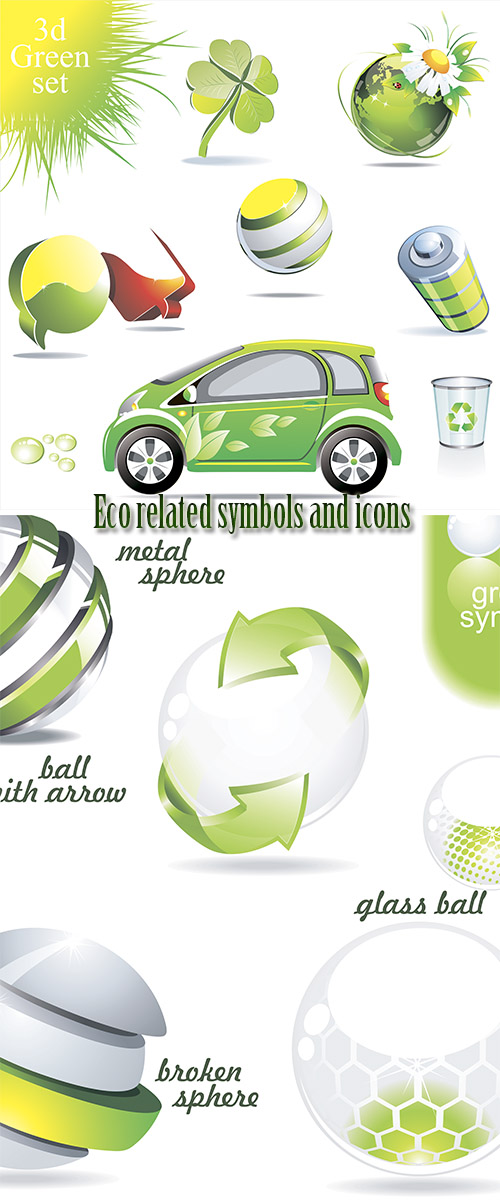 Stock: Eco related symbols and icons