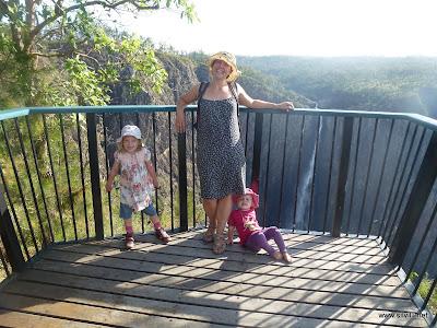 Die Wanderung bis zur Aussichtsplattform war genug für die Kids