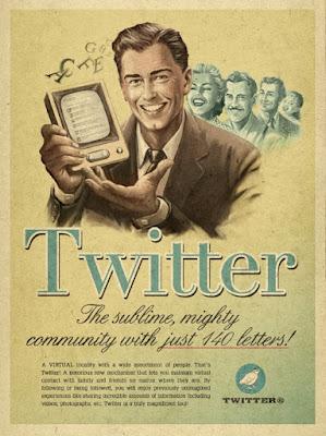 ¿Cómo sería la publicidad de las más famosas redes sociales si fuesen creadas en los años cincuenta?