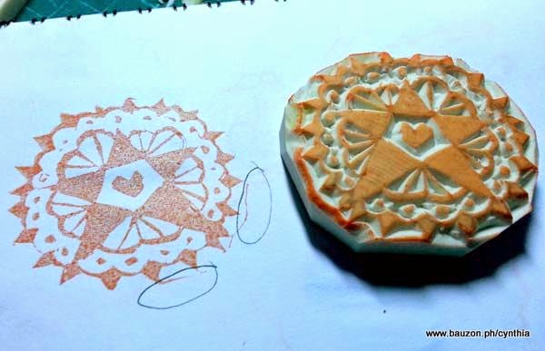 rubber stamp carving x-acto knife