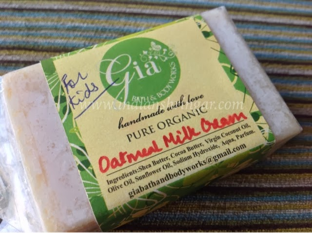 Organic soap for Kids: Gia Bath and Body Works Oatmeal Milk Cream