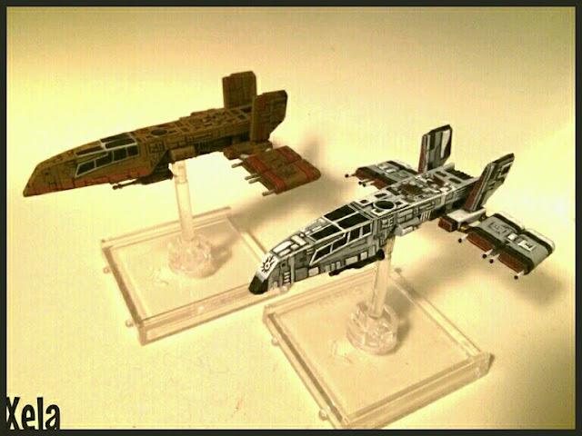 Cuervo Oxidado y HWK-290 del Sol Negro repintado por Xela