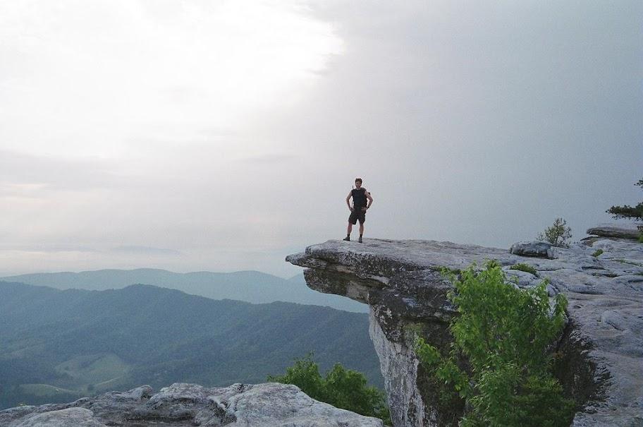 McAfee Knob auf dem Appalachian Trail
