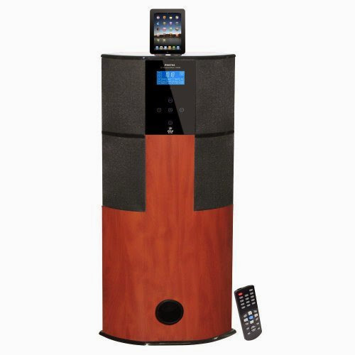Pyle 600 Watt Digital 2.1 Channel Home Theater Tower w/ Docking Station for iPod/iPhone/iPad (Cherry Wood)