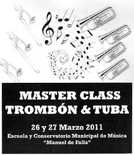 MASTER CLASS TROMBÓN & TUBA Escuela y Conservatorio de Música Manuel de Falla de Alcorcón