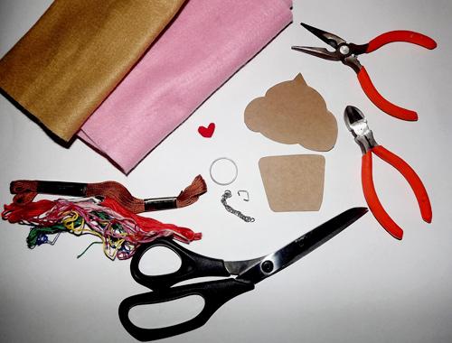 DIY Chaveiro de Cupcake