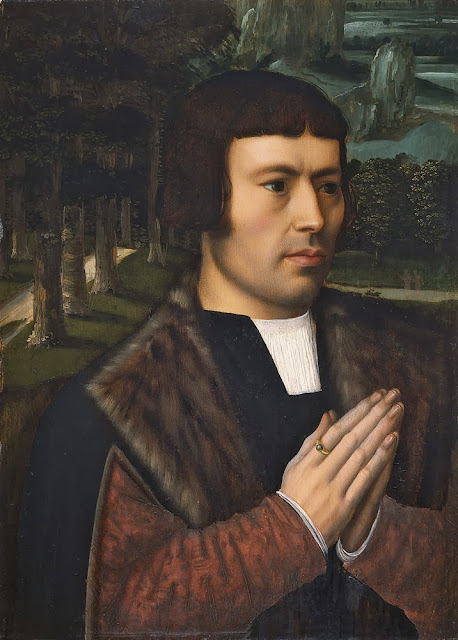 Ambrosius Benson - Portrait of a Man in Prayer
