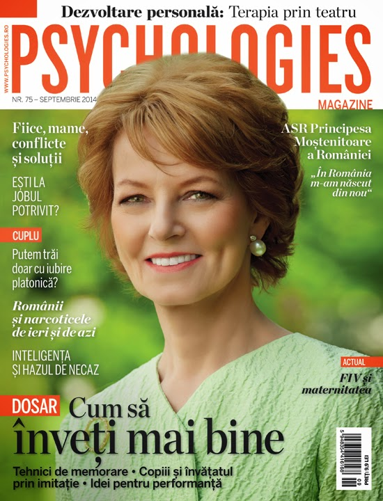 Principesa Margareta în Psychologies, septembrie 2014