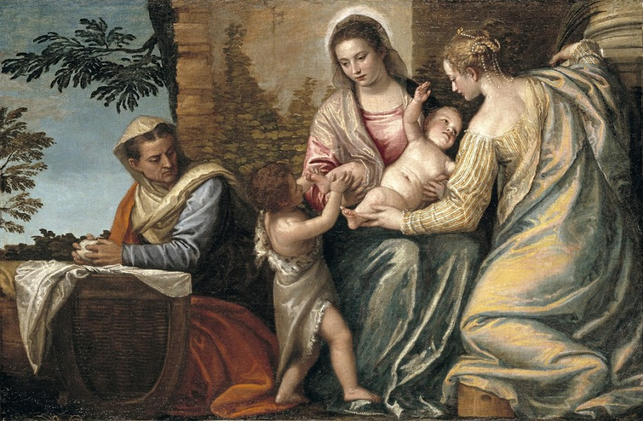 Paolo Veronese - Madonna and Child with St. Elizabeth, the Infant St. John the Baptist, and St. Justina