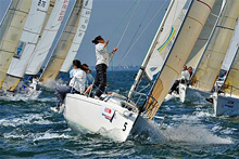 J/111 Lady's Sailing Team- sailing SPI Ouest France regatta