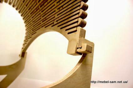 Верхний зацеп гибкой фанерной детали