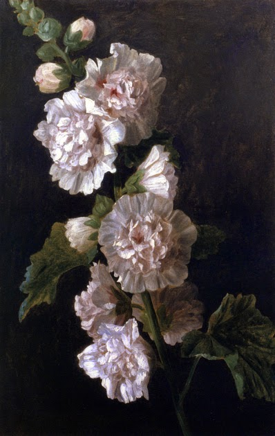 Anne Vallayer-Coster - Study Of White Hollyhocks
