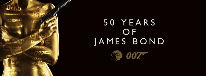 50 years of james bond facebook cover