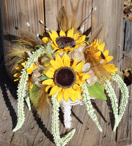 sunflower and burlap wedding