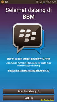 Gambar Tampilan BBM For Android