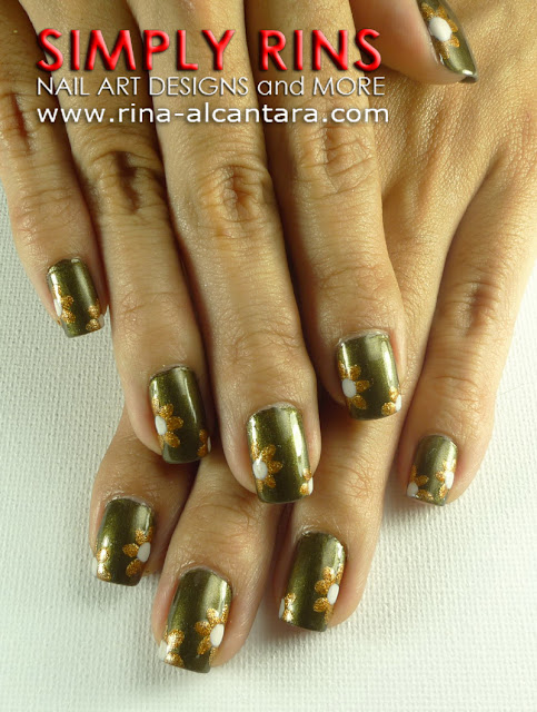 Flowers by Paperclip Nail Art Design