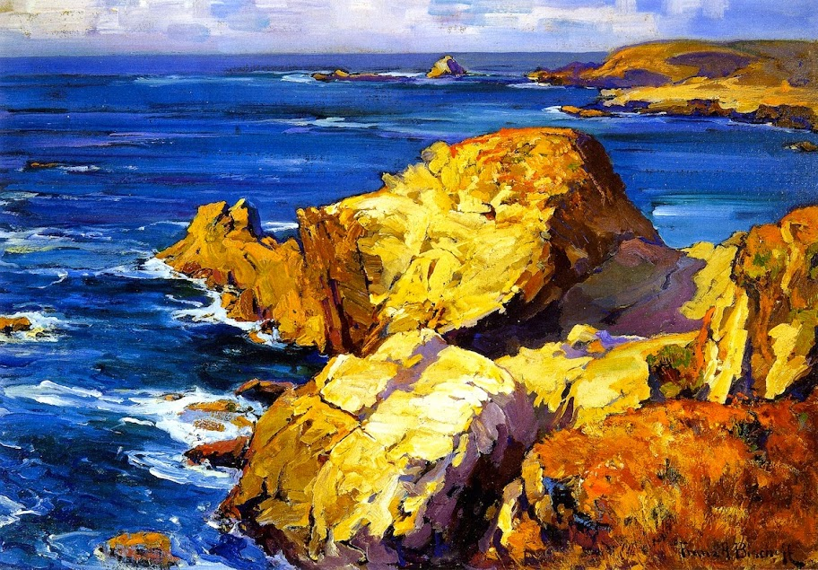 Franz Bischoff - Rocks along the Coast
