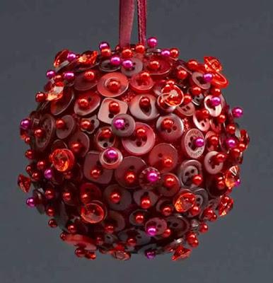 Enfeite de natal com botões