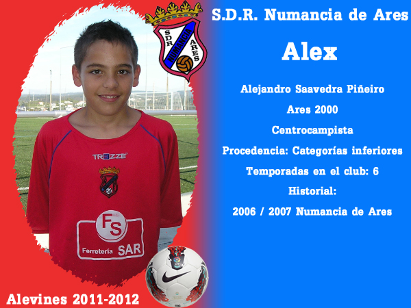 ADR Numancia de Ares. Alevíns 2011-2012. ALEX.
