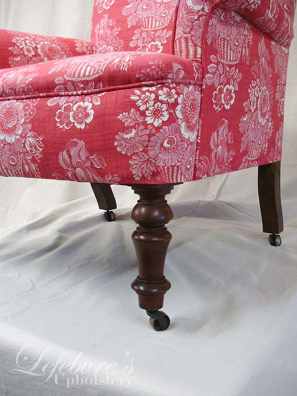 red floral slipcover lefebvres upholstery august 2013