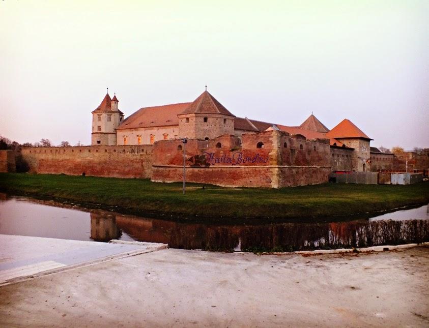 cetatea fagaras vedere exterioara