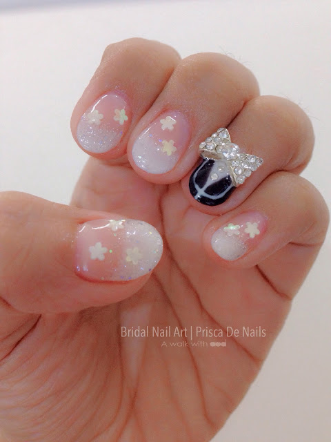 A Walk With Aud Aud Wedding Bridal Nail Art By Prisca De Nails