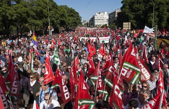 23.000 empleos perdidos en Madrid a causa de las huelgas y manifestaciones