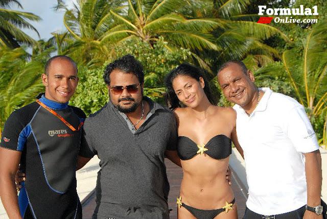 lewis hamilton nicole scherzinger 2011. evening in maldives Nicole
