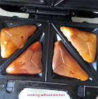 Whole wheat banana triangles  or aebelskiver/pancakes
