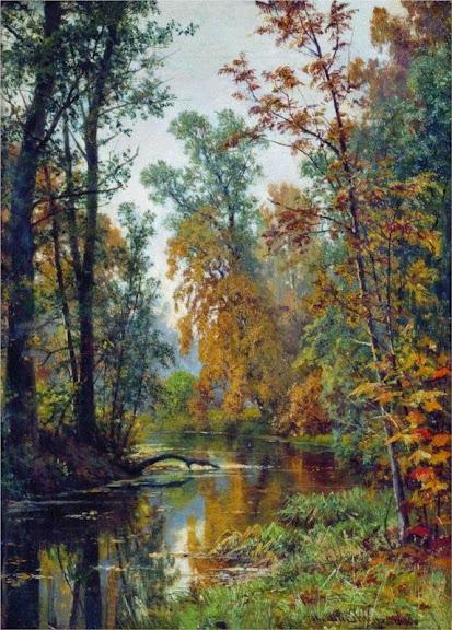 Ivan Shishkin - Autumn landscape. Park in Pavlovsk