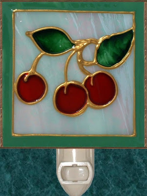 sage and red cherries art