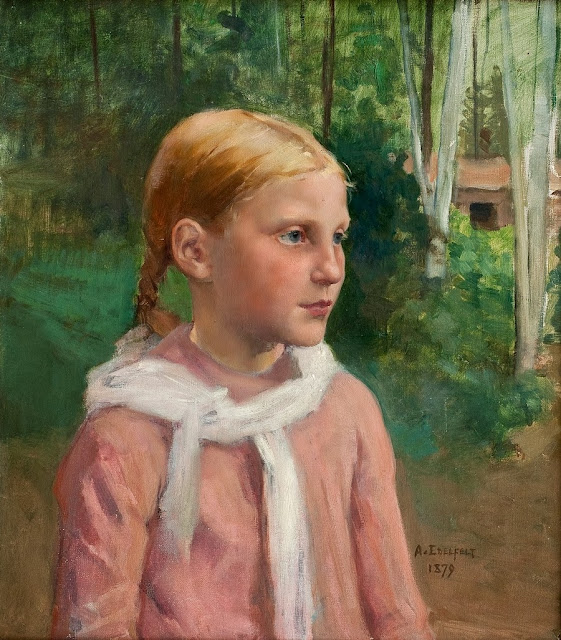 Albert Edelfelt - Fio in the Woods (1879)