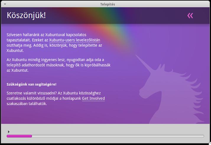 Xubuntu telepítő