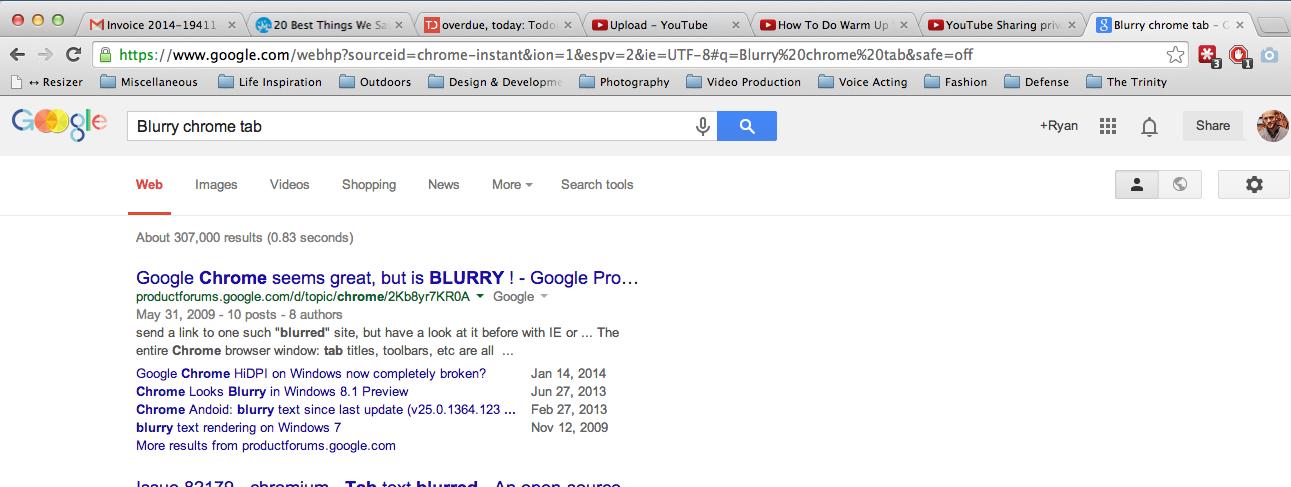 Blurry Tab Text in Chrome - Βοήθεια Google Chrome