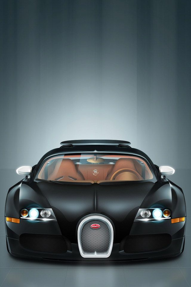 Black Luxury Car HD Wallpaper For iPhone 4