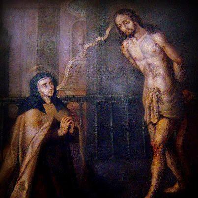 Lienzo de Santa Teresa de Jesús y Jesucristo