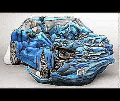 Awesome Body Art Human Bodies Used To Form Car Crash   Worldly Minds