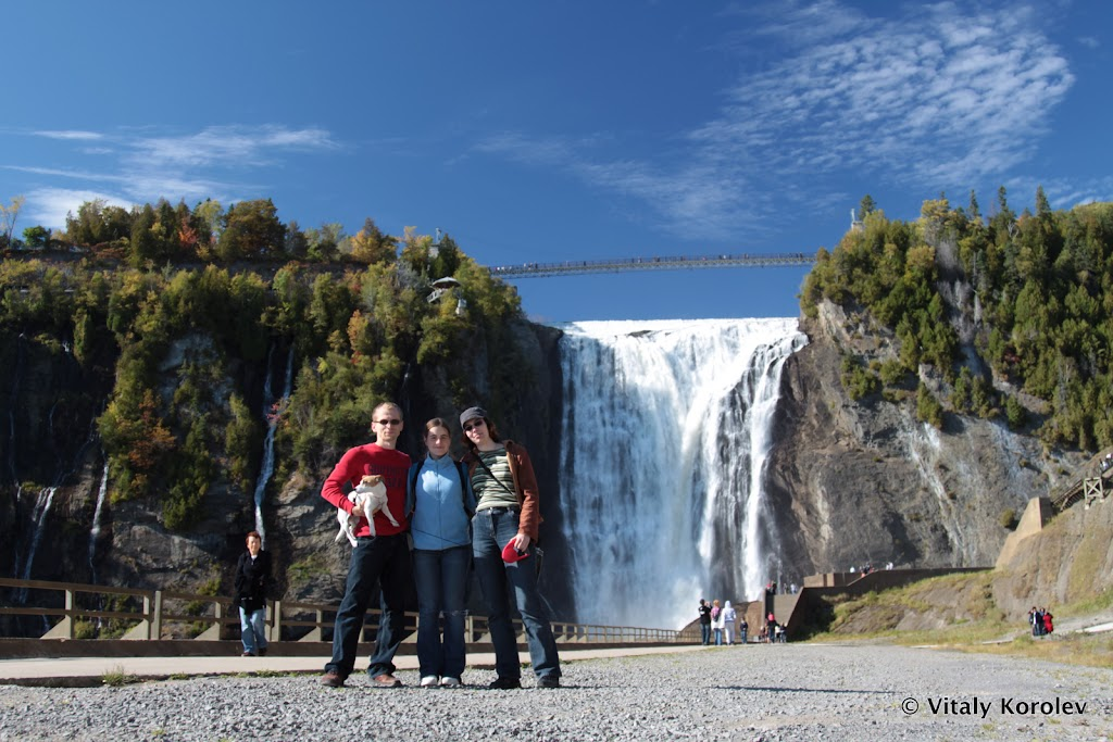 Last look at Montmorency Falls