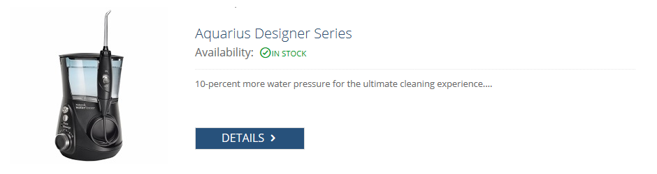 waterpik black aquarius designer series flosser