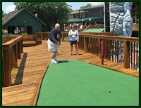 Play miniature golf with your family