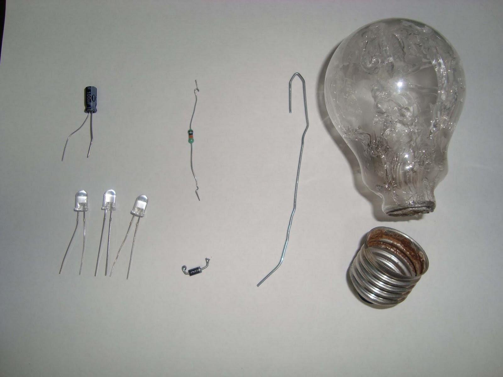 Recytronic a energia do lixo: fazendo uma lâmpada de led