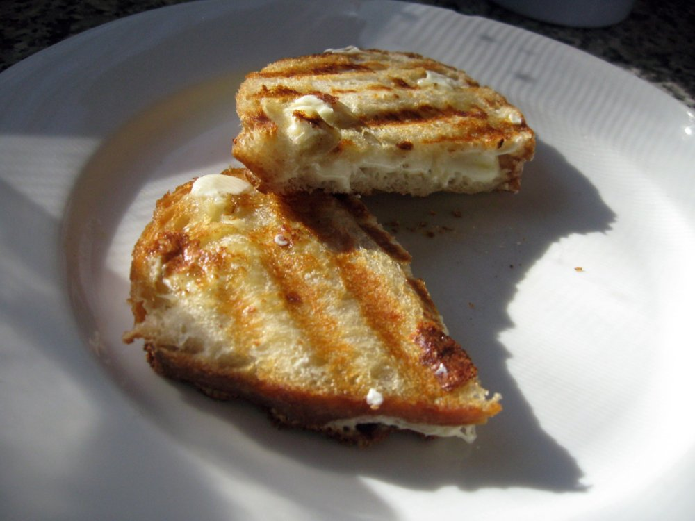 Grilled Cheese Italian style cut and ready to be consumed