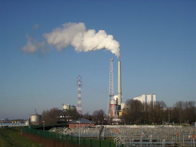 Das Kohlekraftwerk in Bremen-Farge