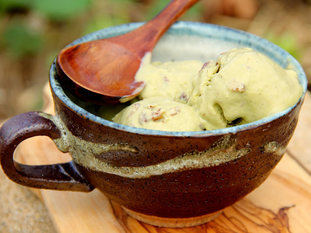 Matcha Green Tea Ice Cream with Pecans