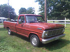 300 6 cylinder straight stick 1968 Ford F100. Red. 3/4 Ton